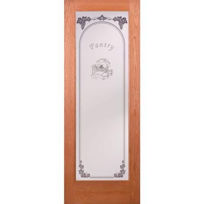 Pantry Woodgrain 1 Lite Unfinished Cherry Interior Door Slab