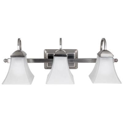 Hampton Bay Vanity Light Brushed Nickel : Hampton Bay 3 Light Brushed Nickel LED Vanity Light 017801739961 eBay