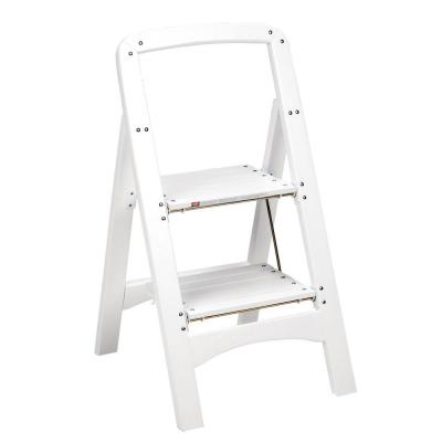 Cosco Rockford Series 2 Step White Wood Step Stool Ladder