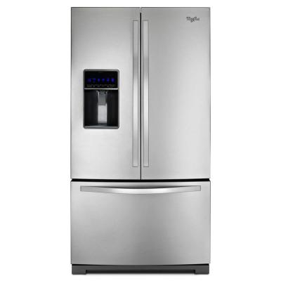 Whirlpool 24.7 cu. ft. French Door Refrigerator in Monochromatic Stainless Steel