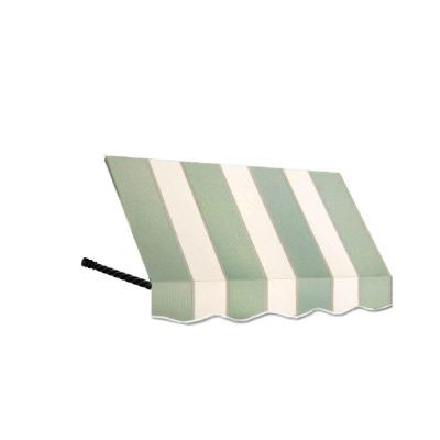 AWNTECH 7 ft. Santa Fe Window Awning (31 in. H x 24 in. D) in Sage/Linen/Cream Stripe