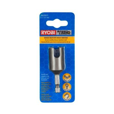 Ryobi SpeedLoad Plus Wing Nut / Eye and Hook Bolt Driver Bit Kit