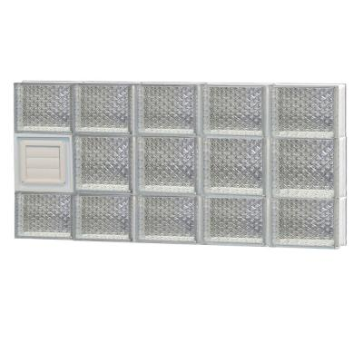 38.75 in. x 19.25 in. x 3.125 in. Diamond Pattern Glass Block Window with Dryer Vent Product Photo