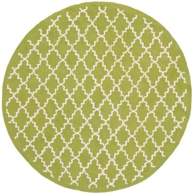 Newport Olive/Ivory 6 ft. x 6 ft. Round Area Rug