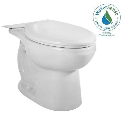 H2Option Siphonic Dual Flush Elongated Toilet Bowl Only in White Product Photo