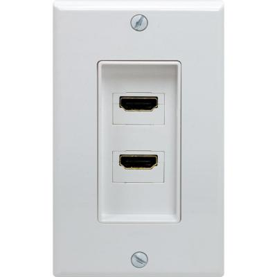 GE 2 Port HDMI Wall Plate