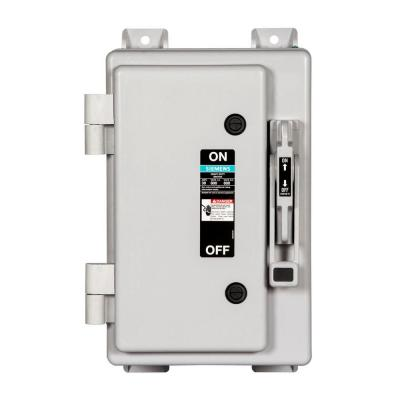 Heavy Duty 30 Amp 600-Volt 3-Pole type 4X Non-Metallic Non-Fusible Safety Switch Product Photo