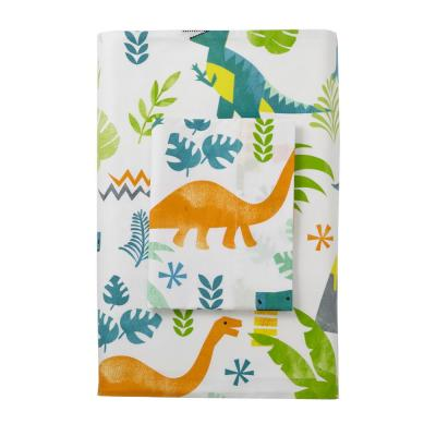 Giant Dinos 200-Thread Count Cotton Percale Flat Sheet