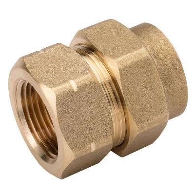 null 3/4 in. Brass CSST x FIPT Female Adapter