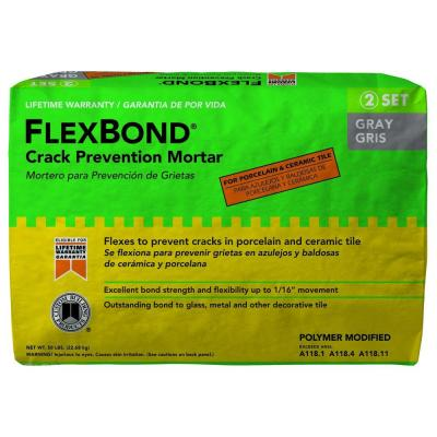 Custom Building Products FlexBond Gray 50 lb. Fortified Thin-Set Mortar
