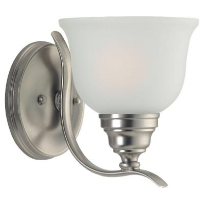 Wheaton 1-Light Brushed Nickel Sconce