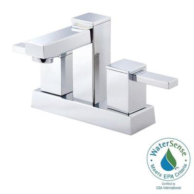 Reef 4 in. Centerset 2-Handle Bathroom Faucet in Chrome