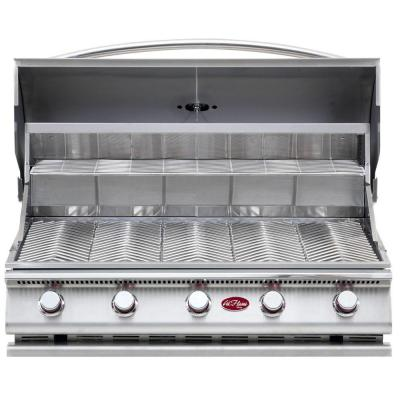 Cal flame gourmet series 5 burner built in stainless steel propane gas grill bbq09g05 the home - Home depot bbq propane ...
