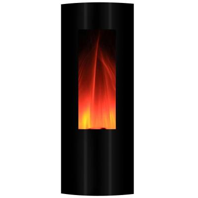 yosemite home decor symphonic tower 16 in wall mount electric fireplace in black with usb mp3