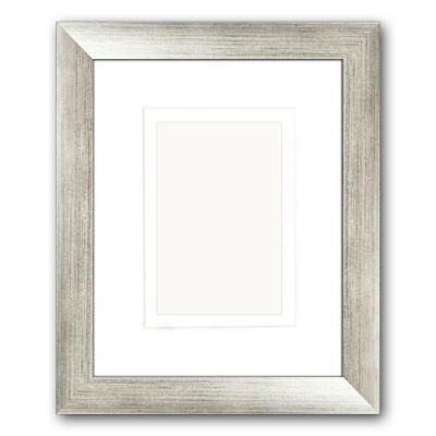 PTM Images 1-Opening 4 in. x 6 in. or 5 in. x 7 in. Matted Silver Picture Frame (Set of 2)