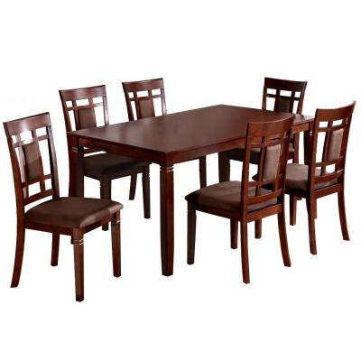 Montclair Dining Table and Chair in Dark Walnut (7-Piece)