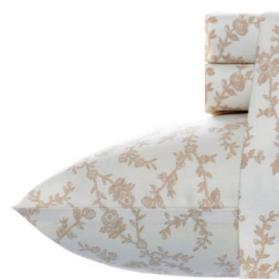 Victoria Floral Flannel Sheet Set