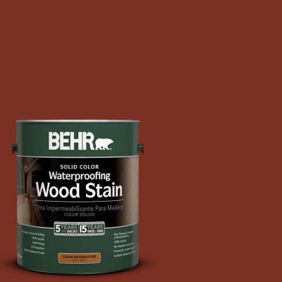 BEHR 1-gal. #SC-330 Redwood Solid Color Waterproofing Wood Stain