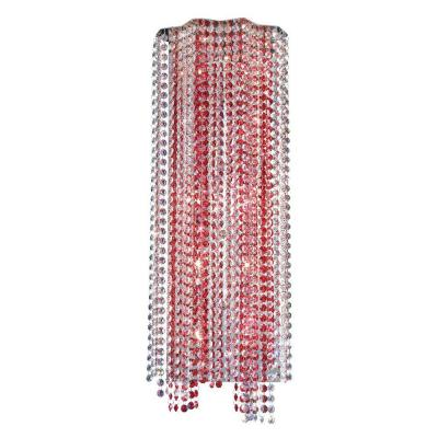 Eurofase Celestino Collection 10-Light Chrome and Red Wall Sconce-DISCONTINUED