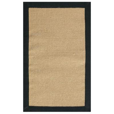 Washed Jute Black 2 ft. x 3 ft. 5 in. Accent
