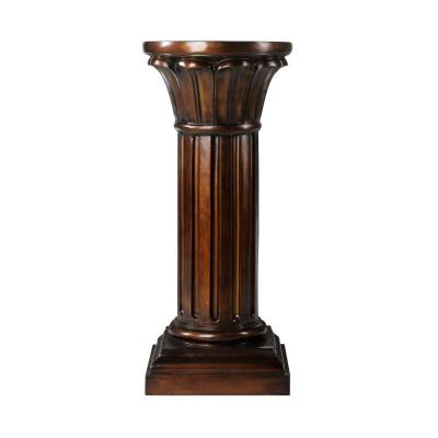 Home Decorators Collection 28.5 in. H Philippe Antique Brown Pedestal
