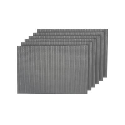 Natural Shimmer Woven Textilene Reversible Rectangle Placemats (Set of 6)