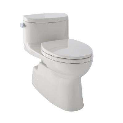 TOTO Carolina II 1-Piece 1.28 GPF Single Flush Elongated Skirted Toilet with CeFiONtect in Sedona Beige