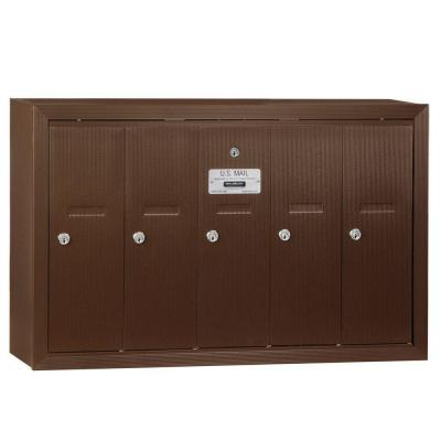 Bronze Surface-Mounted USPS Access Vertical Mailbox with 5 Doors