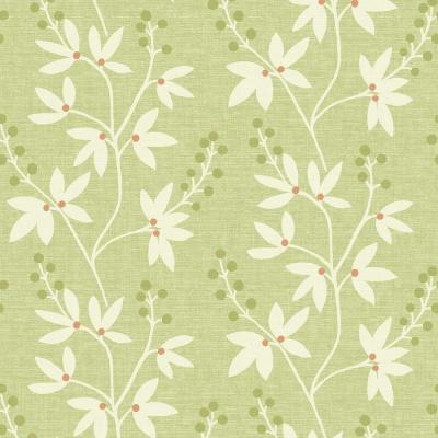 Beacon House 56 sq. ft. Currant Green Botanical Trail Wallpaper