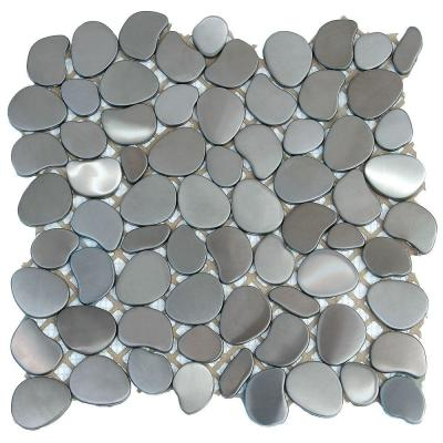 Metal Freeform Astro 11 in. x 11 in. x 6.35 mm Stainless Steel Mosaic Wall Tile (8.4 sq. ft. / case) Product Photo