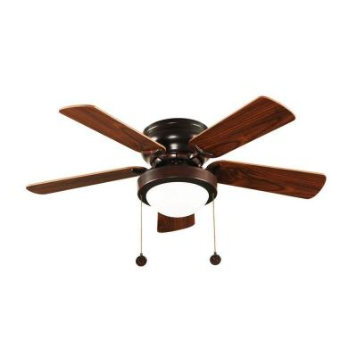 Hampton Bay Capri 36 in. Oil Rubbed Bronze Ceiling Fan with 5 Reversible MDF Blades and Single Frosted Twist Lock Glass