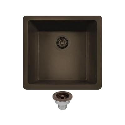 MR Direct All-in-One Undermount Composite 18 in. Single Basin Kitchen Sink in Mocha