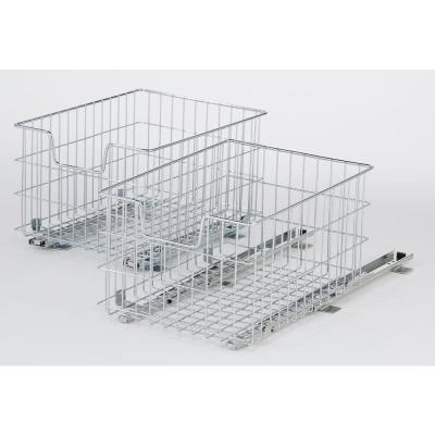 EcoStorage 13 in. W x 17.75 in. D x 11 in. H Chrome Wire in Cabinet Pull-Out Bottom Mount Wire Basket Product Photo