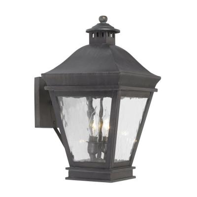 Titan Lighting Landings 2-Light Wall Mount Outdoor Charcoal Sconce