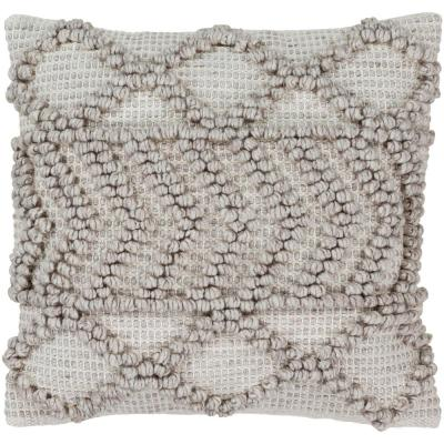 Kirkwall Gray Solid Textured Down Throw Pillow