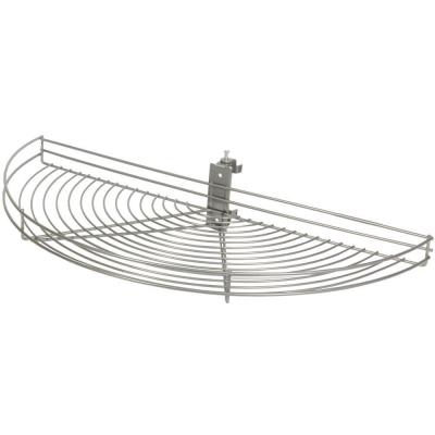 3.25 in. x 33.5 in. x 16.19 in. Pivot Half Moon Frosted Nickel Wire Lazy Susan Product Photo