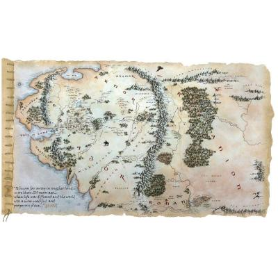 null 27 in. x 40 in. The Hobbit Middle Earth Map Peel and Stick Giant Wall Decals