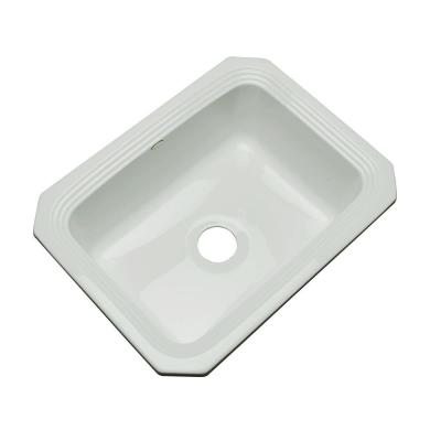 Thermocast Rochester Undermount Acrylic 25 in. Single Bowl Kitchen Sink in Sterling Silver