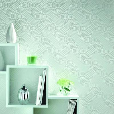 Graham & Brown 56 sq. ft. Pure Paintable White Wallpaper