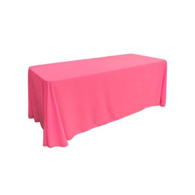 90 in. x 132 in. Polyester Poplin Rectangular Tablecloth