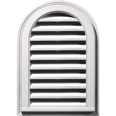 14 in. x 22 in. Round Top Gable Vent #117 Bright White Product Photo