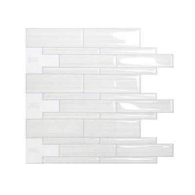 10 1 2 in white infinity mosaic peel and stick decorative wall tile