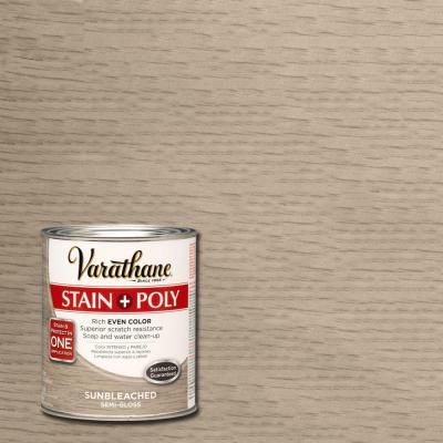 Varathane 1 Qt Sun Bleached Stain And Polyurethane 266173