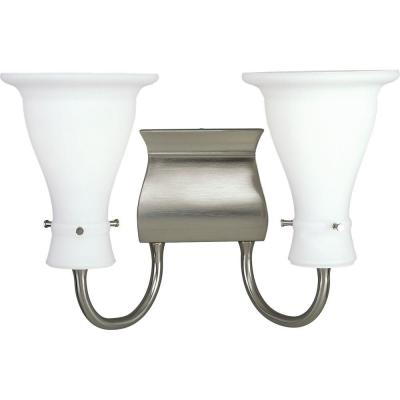 Progress Lighting Lockwood Collection Brushed Nickel 2-light Vanity Fixture P3146-09