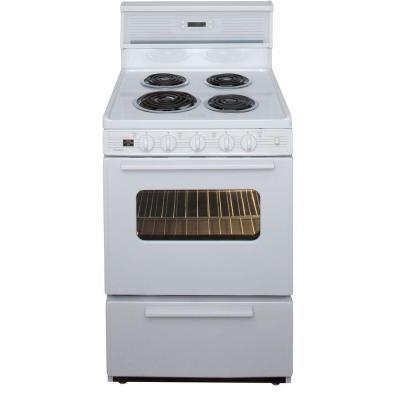 Premier 24 in. 2.97 cu. ft. Electric Range in White