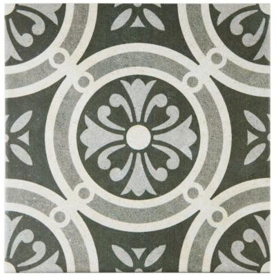Vintage Classic 9-1/2 in. x 9-1/2 in. Porcelain Floor and Wall