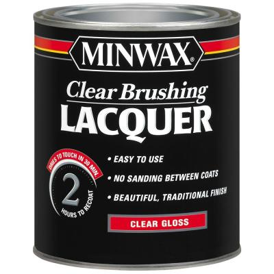 Minwax 152Gloss Brushing Lacquer Spray, Clear, 15-Ounce