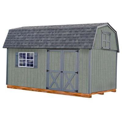 Meadowbrook 10 ft. x 16 ft. Wood Storage Shed Kit with