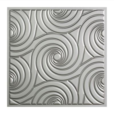 Fasade Typhoon - 2 ft. x 2 ft. Lay-in Ceiling Tile in Argent Silver