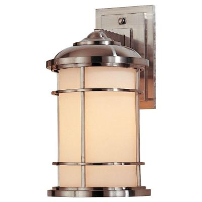 Feiss Lighthouse 1-Light Brushed Steel Outdoor Wall Lantern